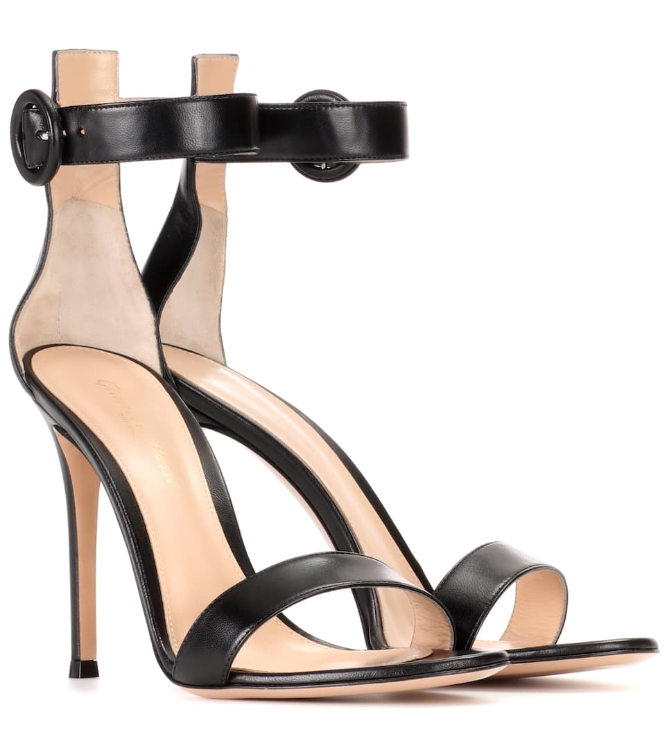 Details about  /Gianvito Rossi Black Stiletto HIgh Heel Two Peice Open Toe Dress Pumps