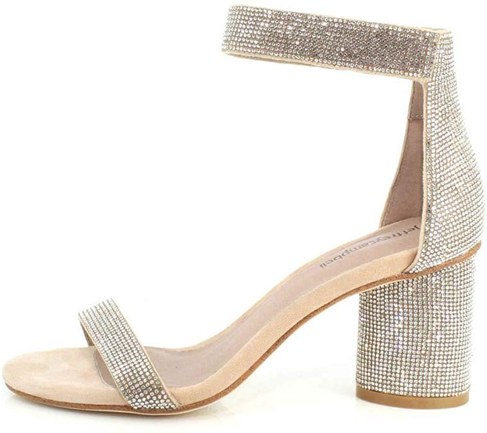 Jeffrey Campbell Womens Laura-js Embellished Block-heel