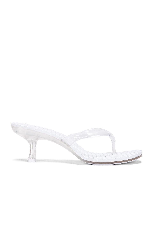CLEAR Kitten Heel Mule Sandals
