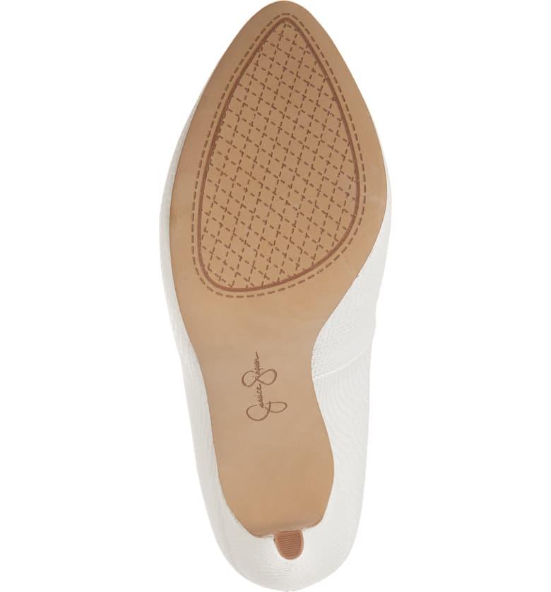 Jessica-Simpson-Parisah-White-Rumba-Snake-Leather-Platform-High-Heel-Pumps thumbnail 5