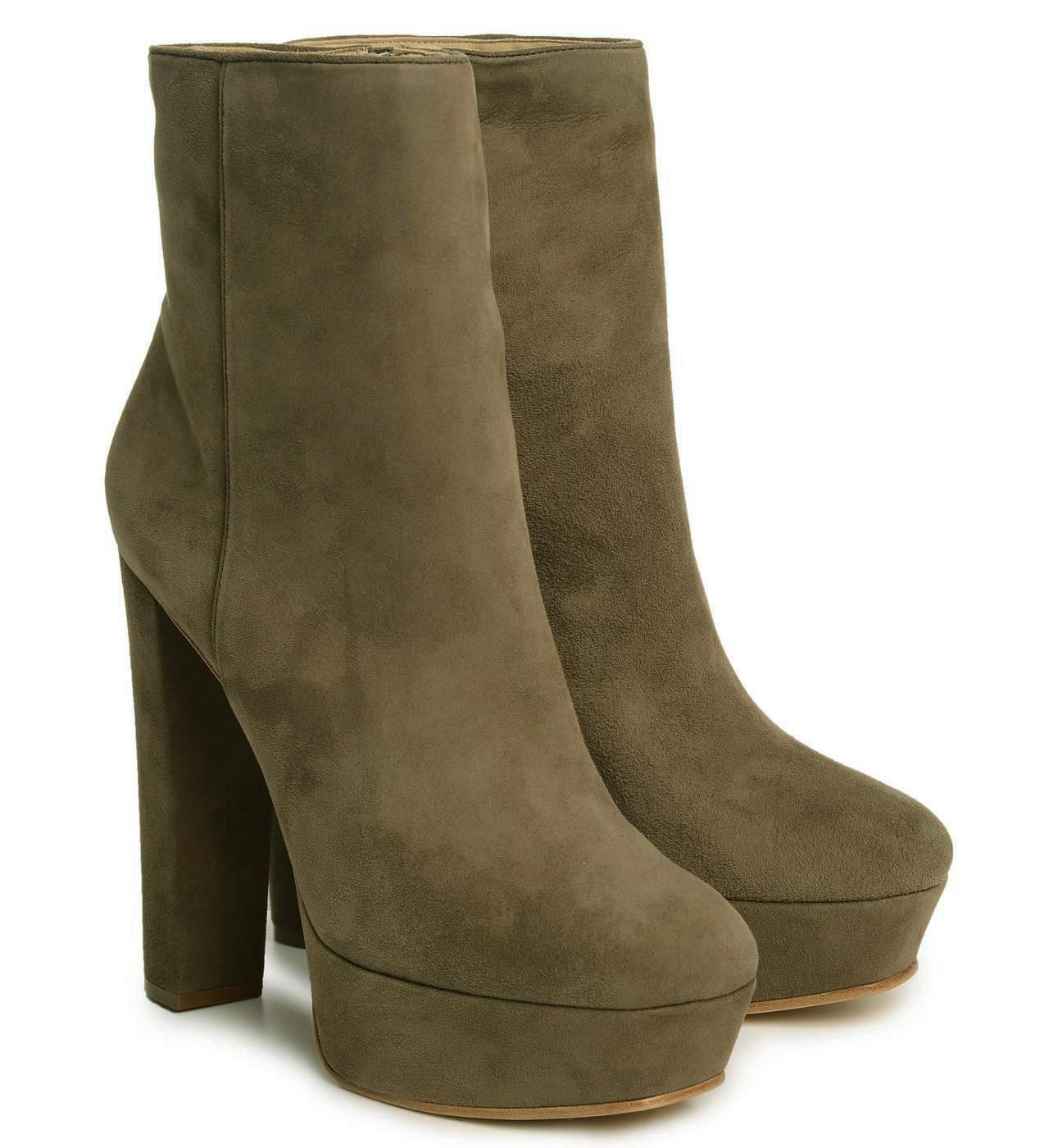 Schutz Alexia Black Leather Peep Toe LaceUp Edgy High Heel Stiletto Ankle Bootie