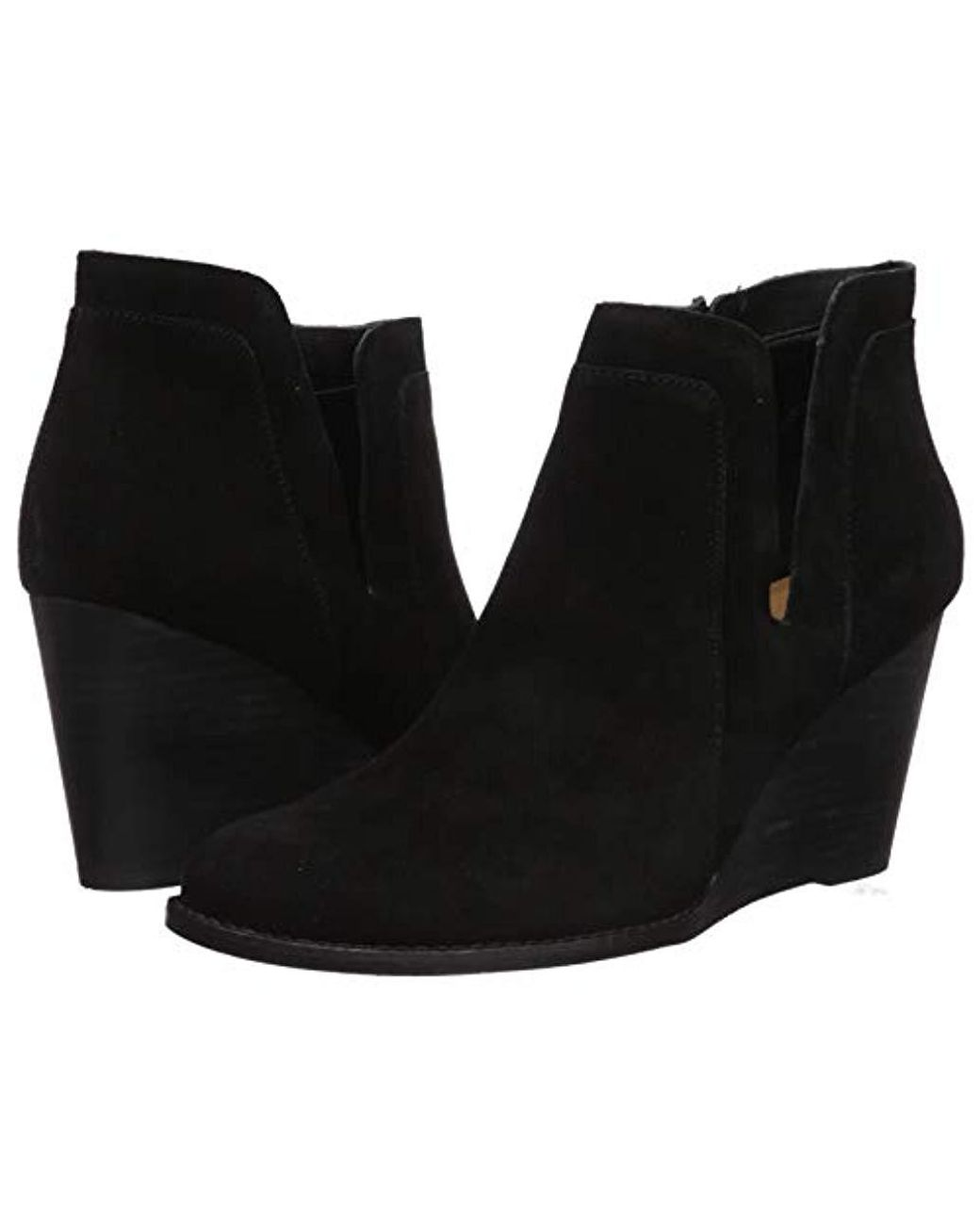 Lucky Brand Women's Yabba Ankle Boot, Black Suede Cut our We