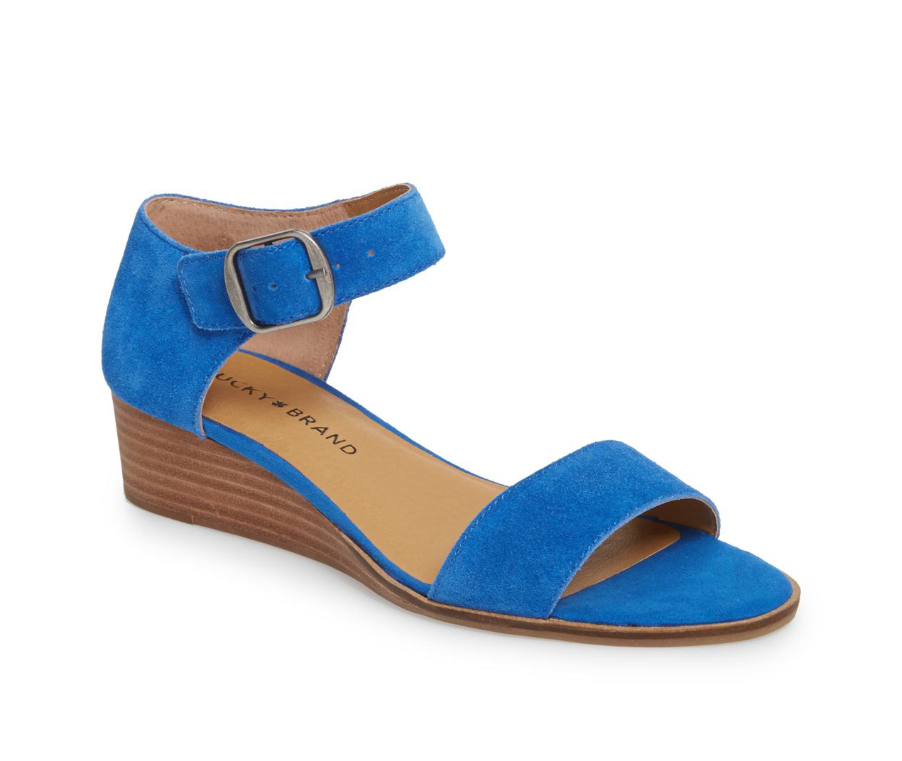 Lucky Brand Riamsee Lapis Blue Leather
