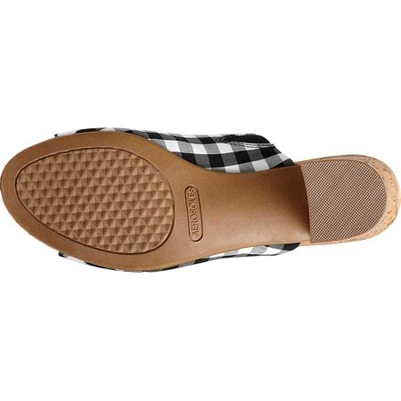 Aerosoles Women/'s MID Level Sandal Black White Plaid Combo Open Toe Mules