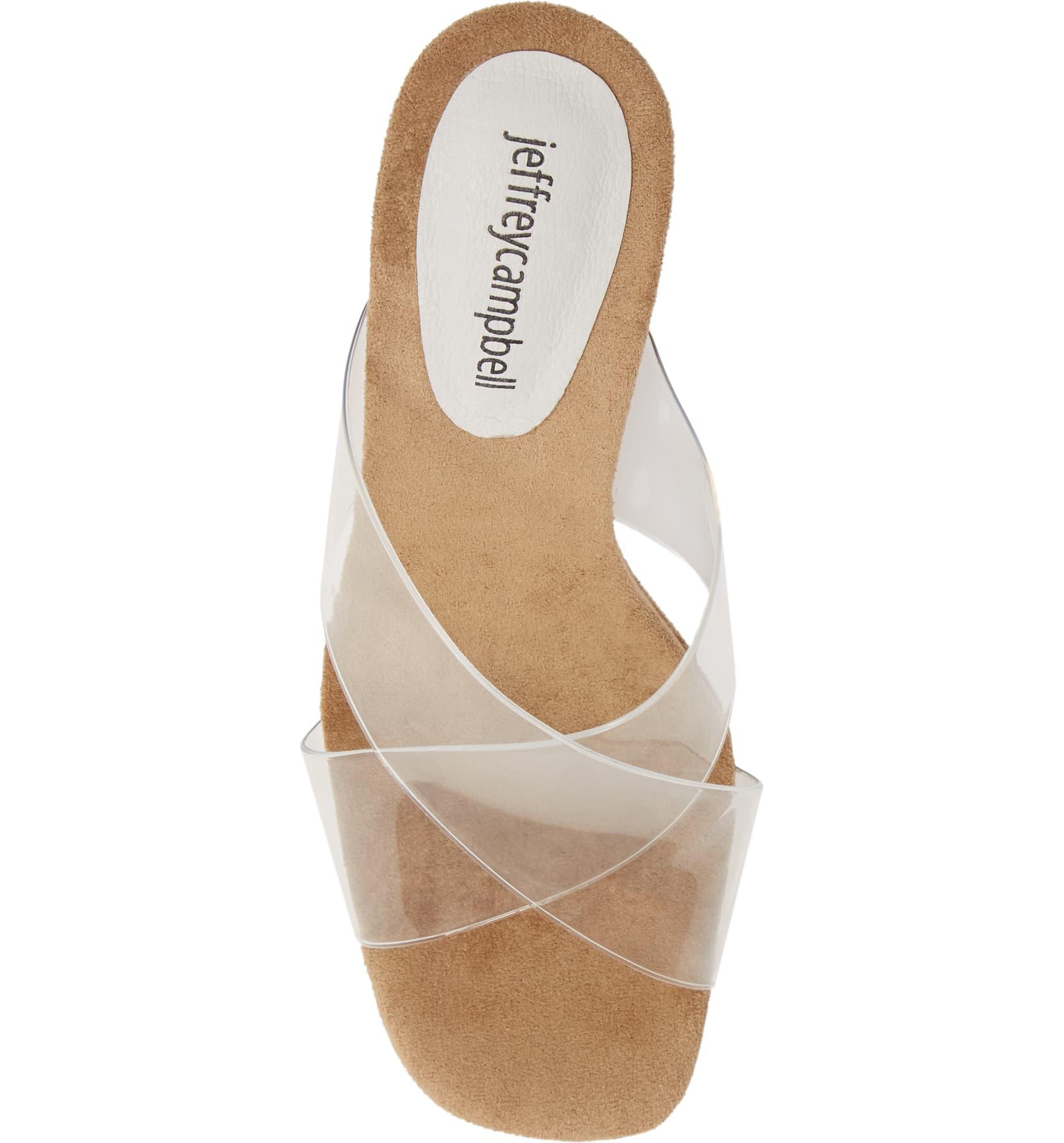 Jeffrey-Campbell-Women-039-s-Mystical-Wedge-Transparent-Straps-Wedge-Heeled-Sandals thumbnail 6