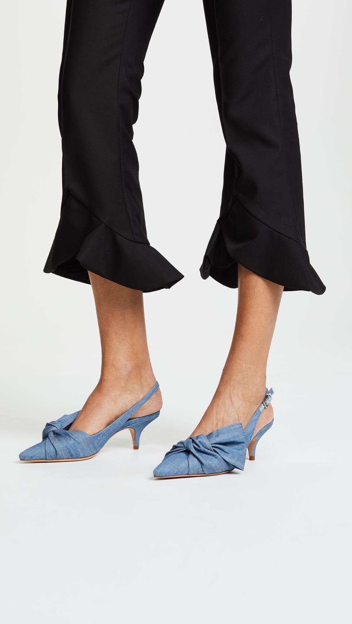 Light Blue Kitten Heels