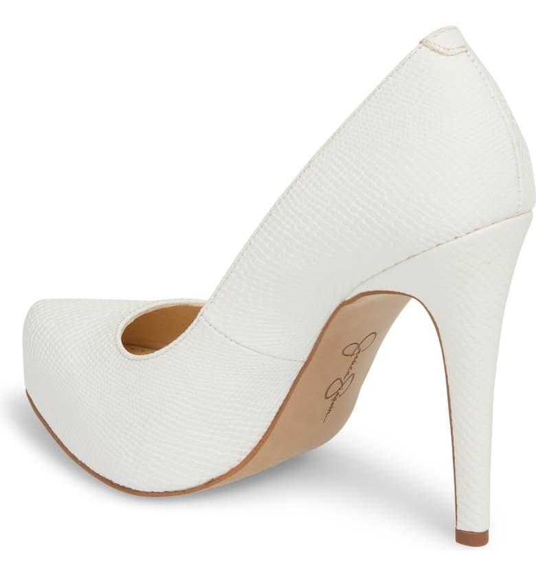 Jessica-Simpson-Parisah-White-Rumba-Snake-Leather-Platform-High-Heel-Pumps thumbnail 3