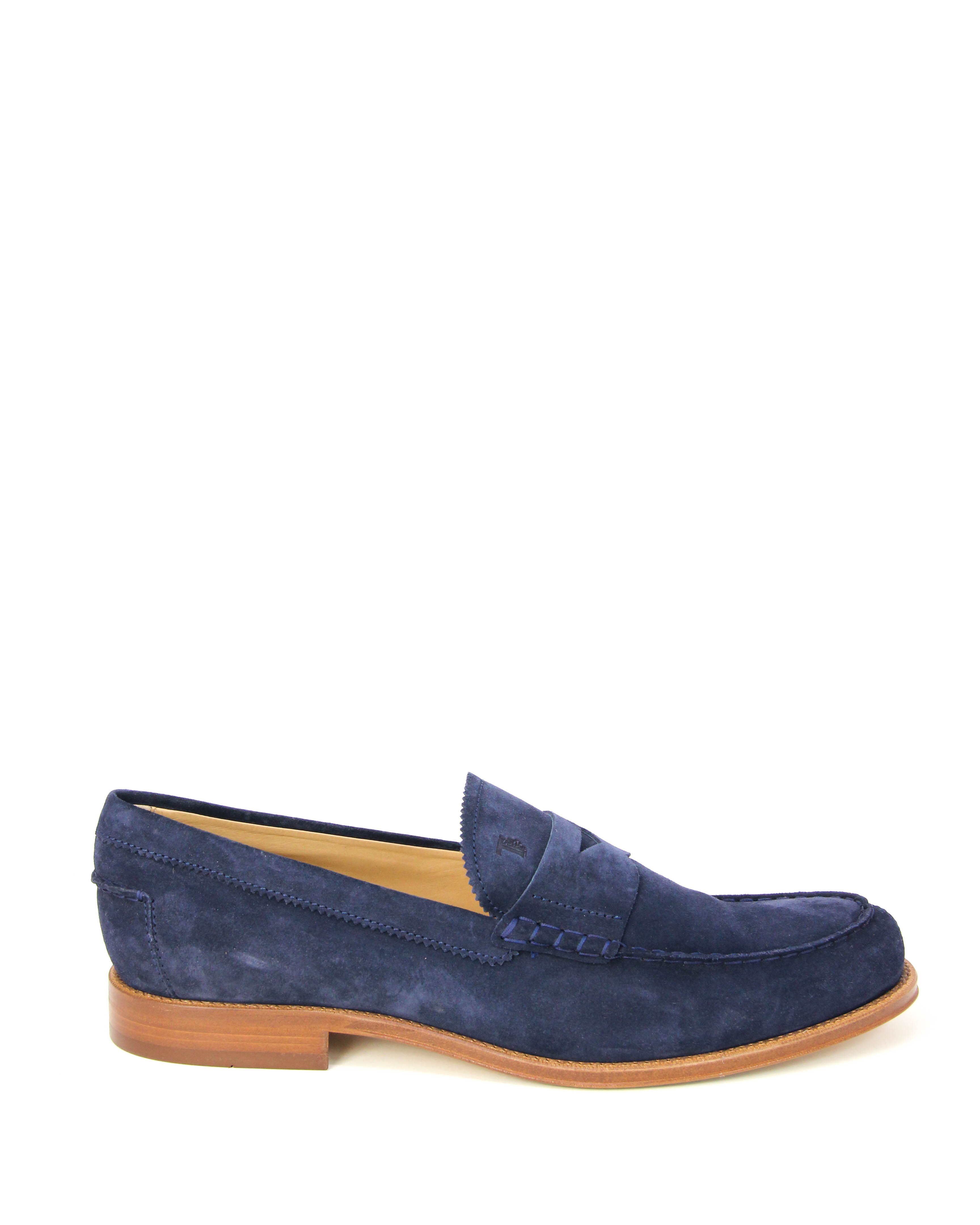 Details about  /Tod/'s Men/'s Gommino Blue Leather Moccasins Loafers XXM0RO00640RE0U820