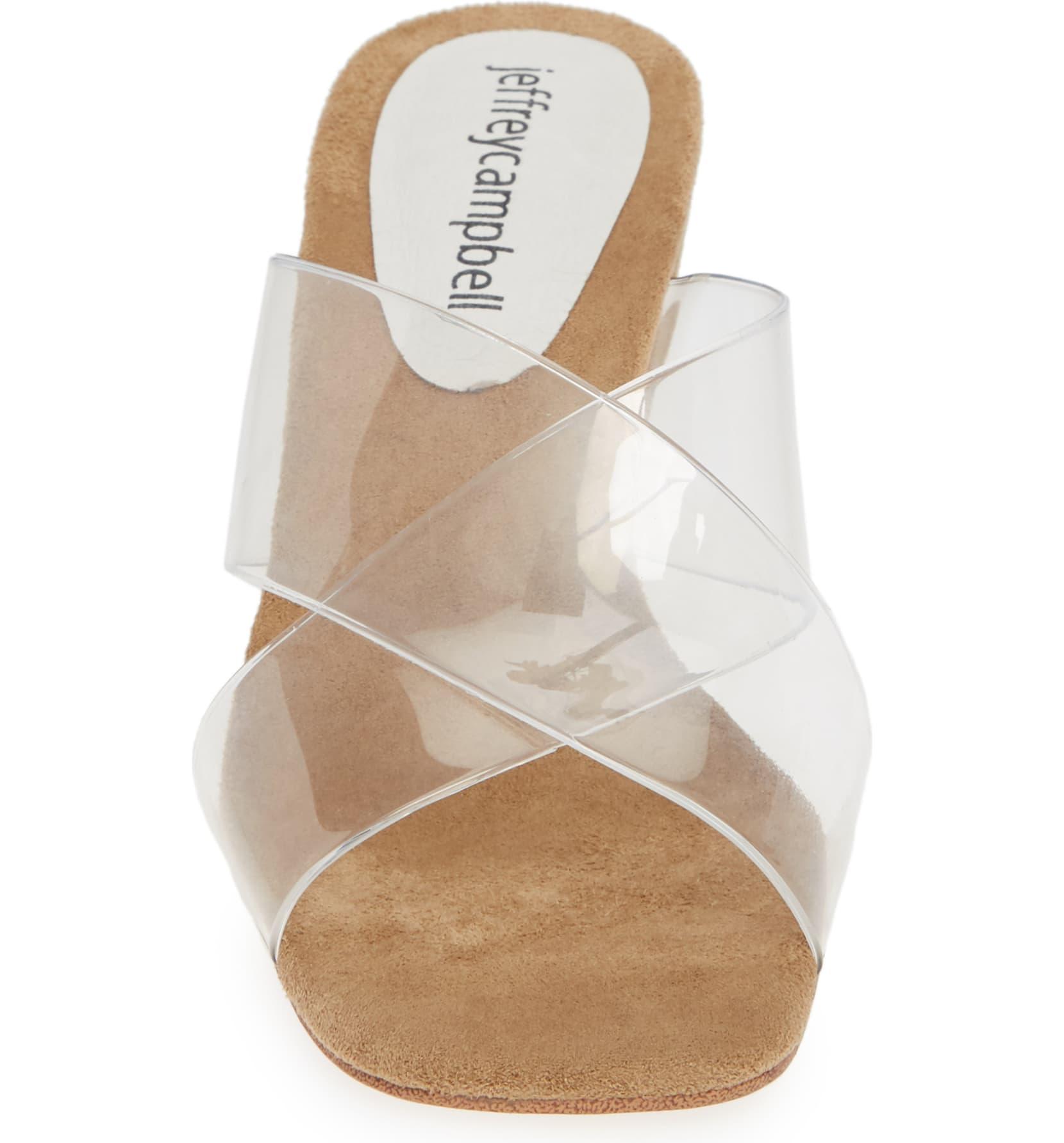Jeffrey-Campbell-Women-039-s-Mystical-Wedge-Transparent-Straps-Wedge-Heeled-Sandals thumbnail 5