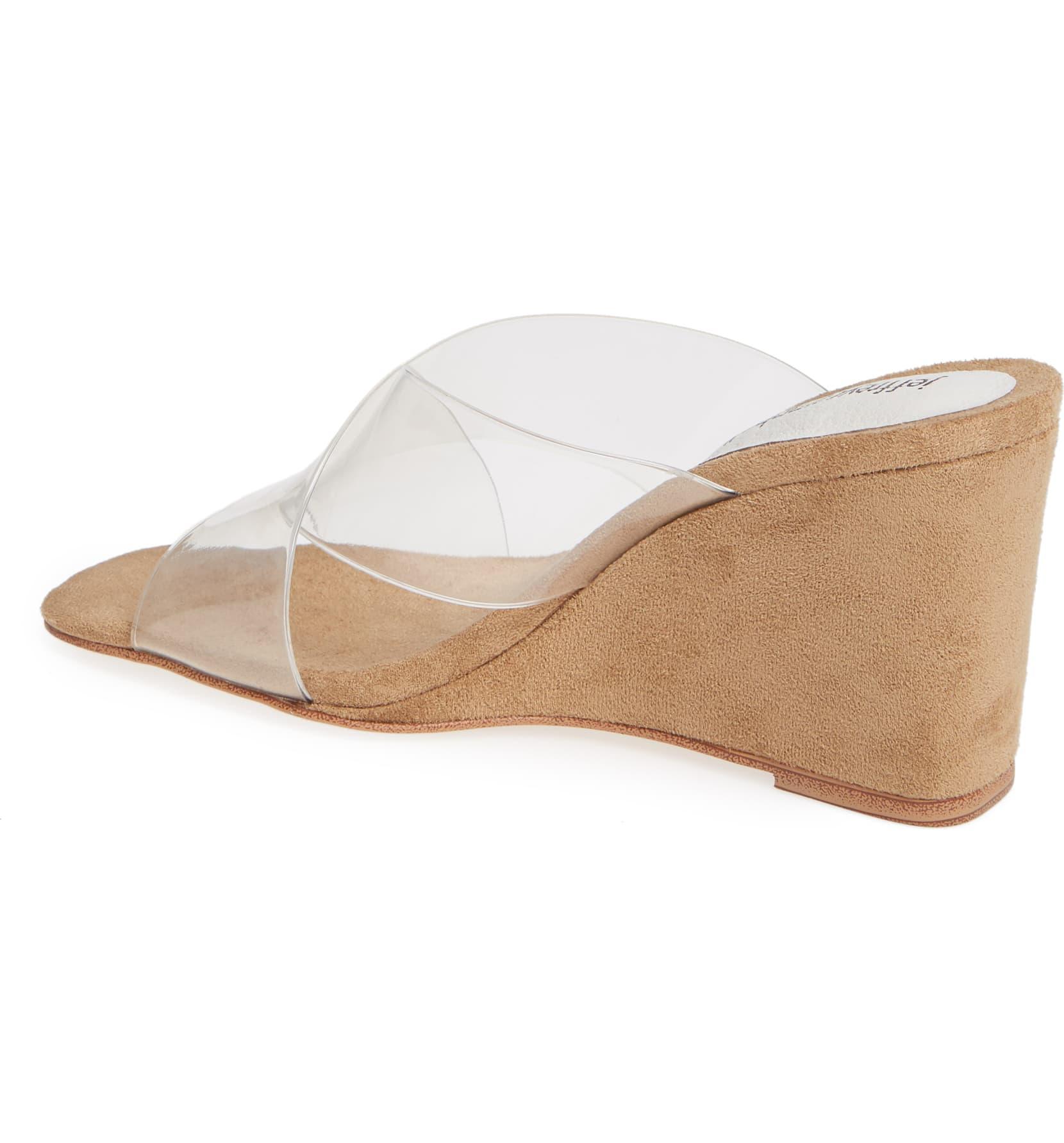 Jeffrey-Campbell-Women-039-s-Mystical-Wedge-Transparent-Straps-Wedge-Heeled-Sandals thumbnail 3