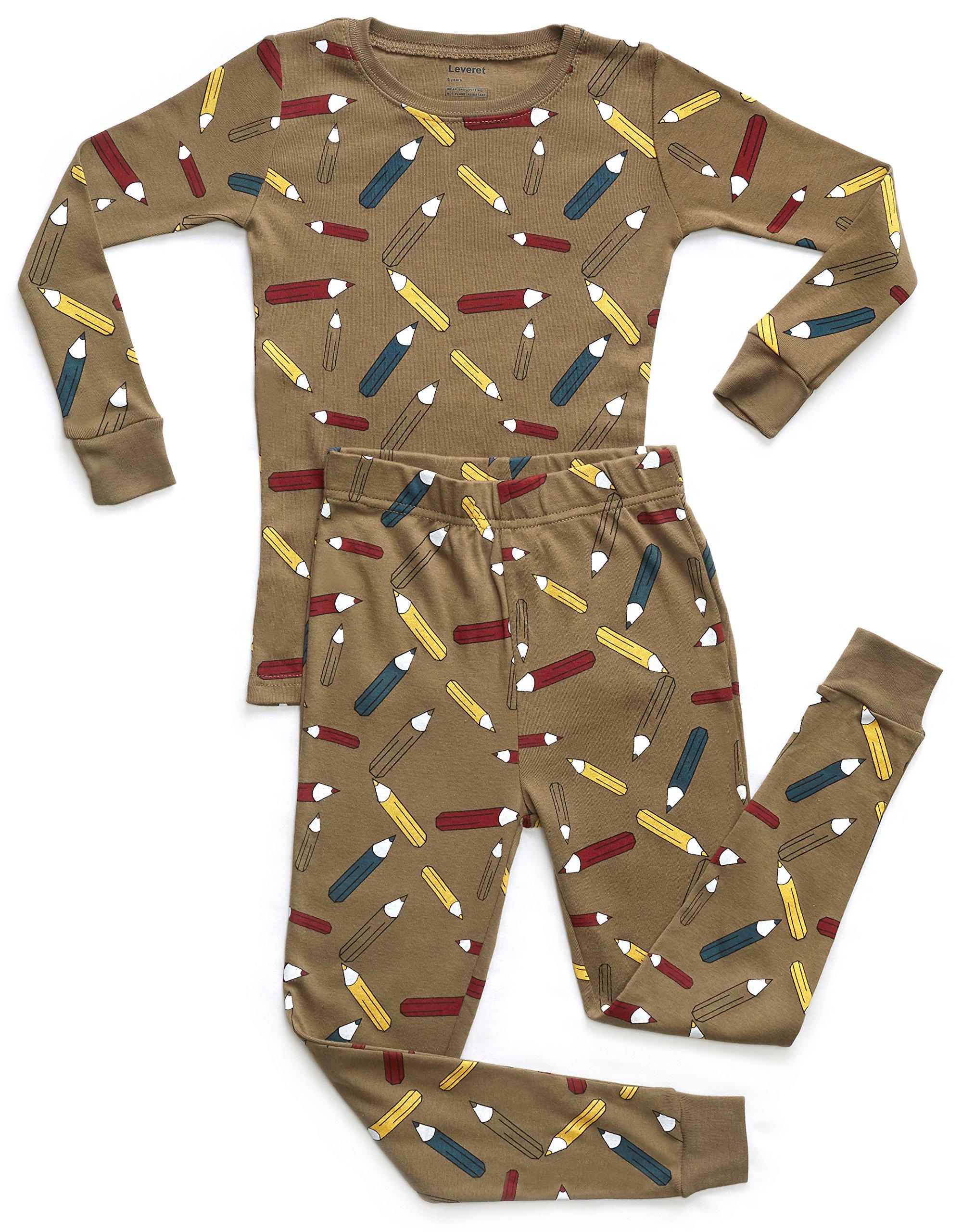 Leveret Boys Owls Pajama Set 100/% Cotton Size 12M-14Y
