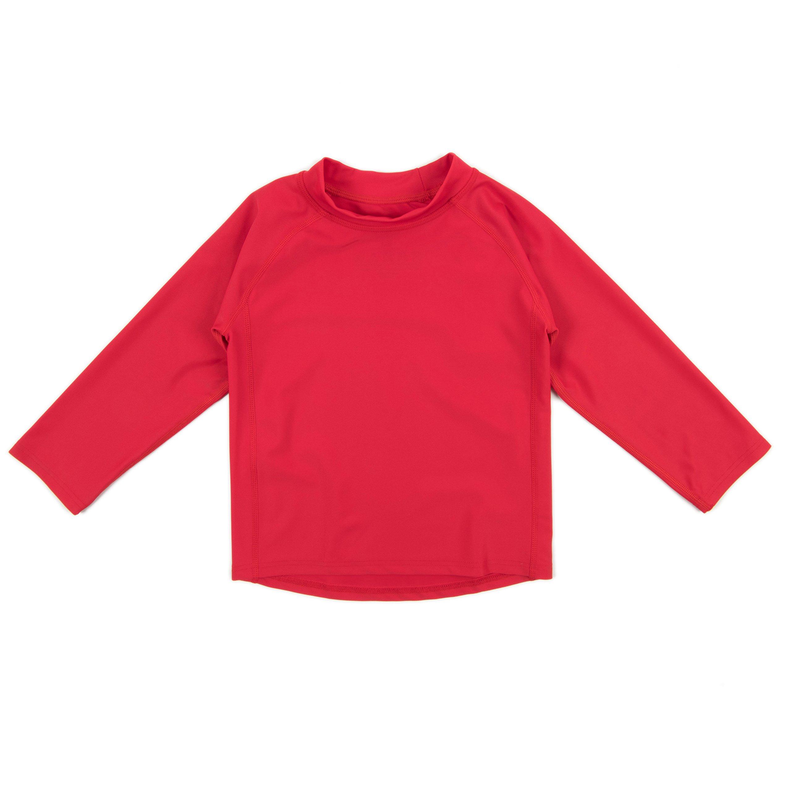 12M-5 Toddler Leveret Pink Short Sleeve Rash Guard Sun Protected UPF 50