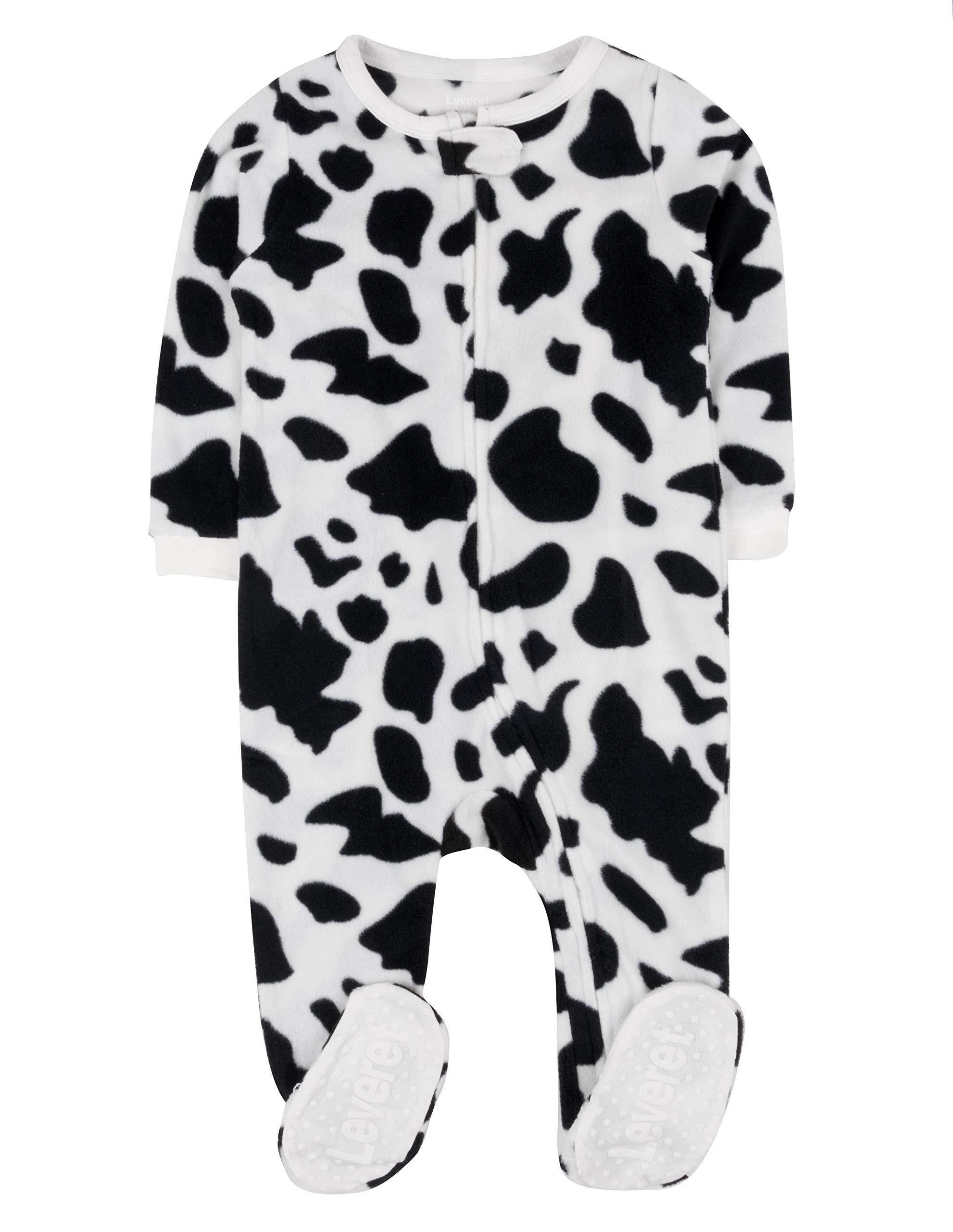3 Months-5 Toddler Leveret Fleece Baby Girls Footed Pajamas Sleeper Kids /& Toddler Pajamas