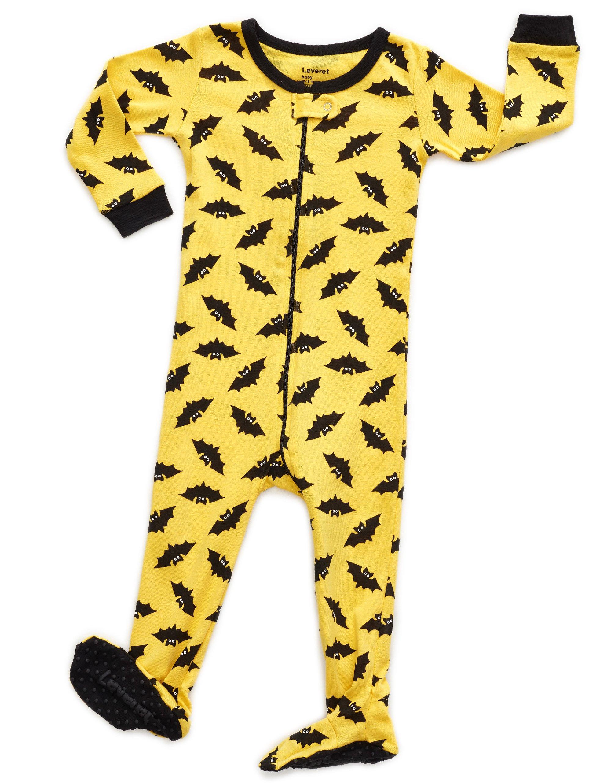 Leveret Baby Boys Girls Footed Pajamas Sleeper 100/% Organic Cotton Kids /& Toddler Pjs Sleepwear 6 Months-5 Toddler