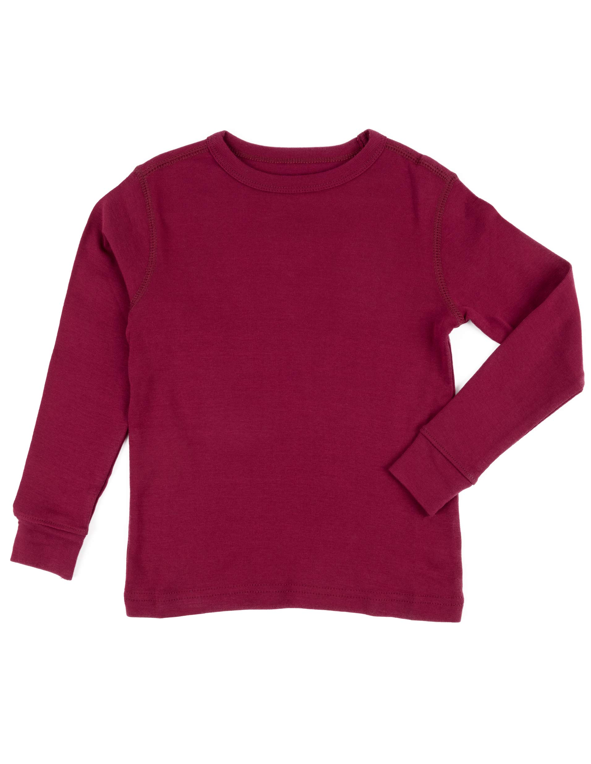 14 Leveret Boys Girls Lt Pink Long Sleeve Solid T-Shirt 100/% Cotton 2 Toddler