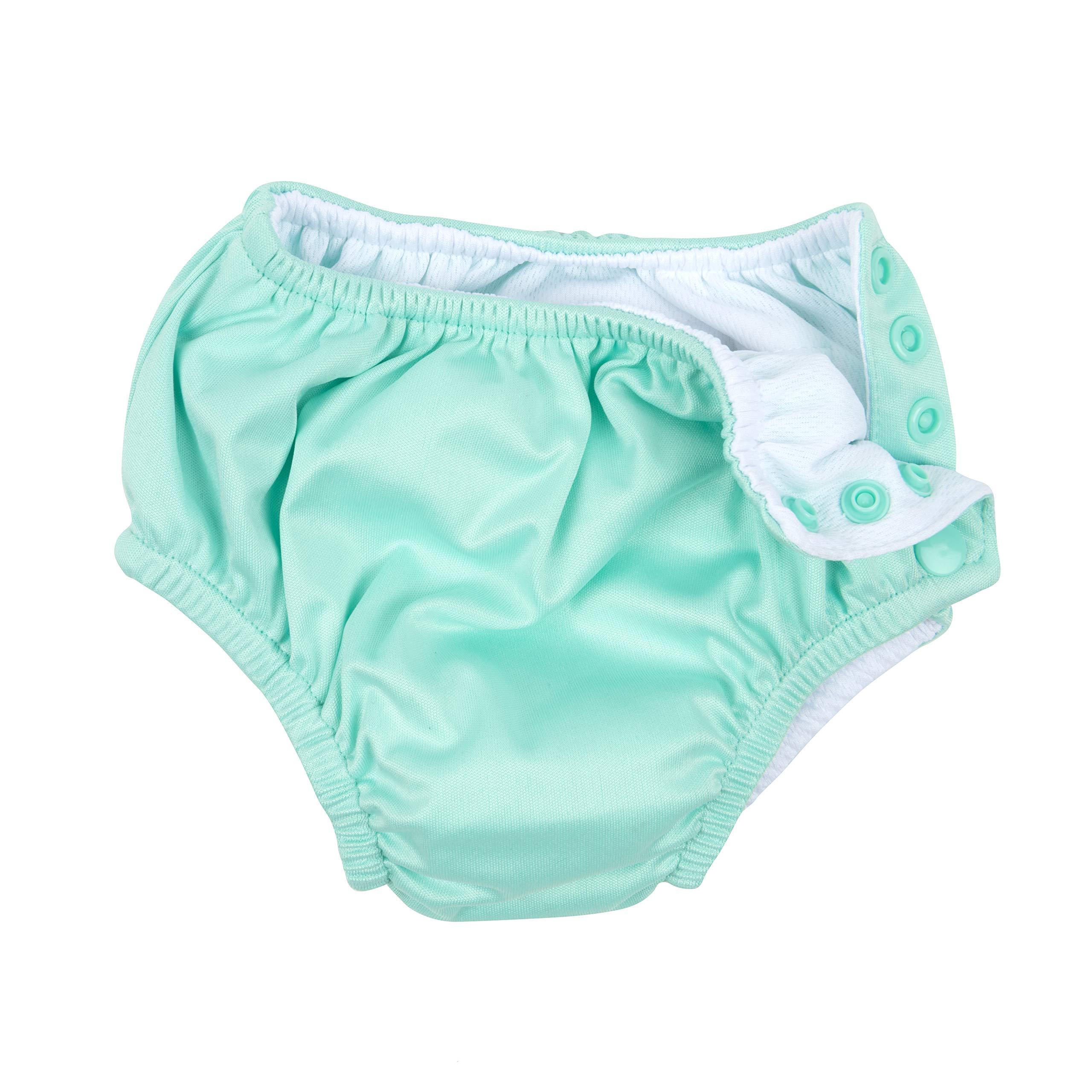 White Size 2 Toddler Leveret Kids Baby Boys Girls Reusable Absorbent Swim Diaper UPF 50