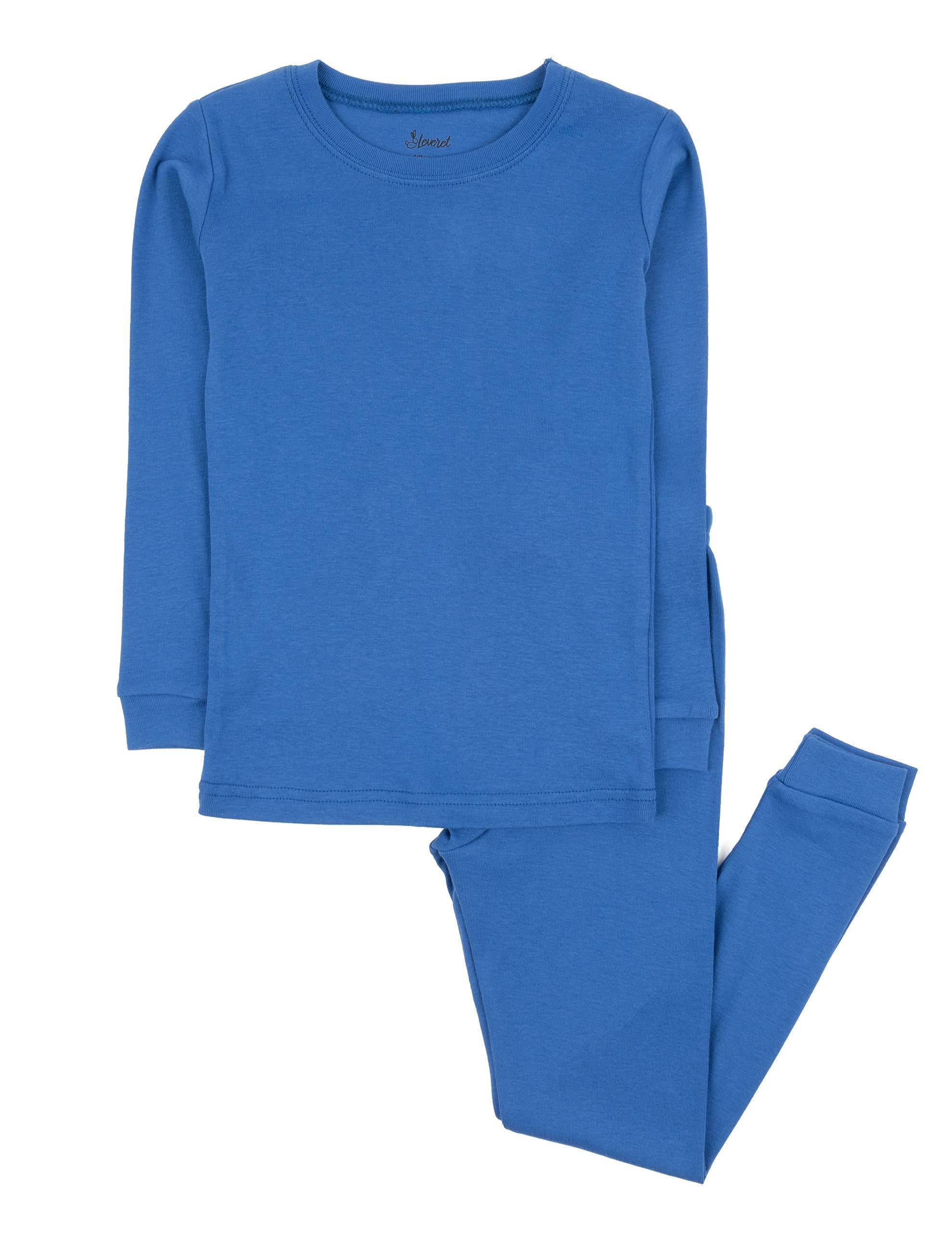 Leveret Kids Pajamas Boys & Girls Solid Colors 2 Piece ...