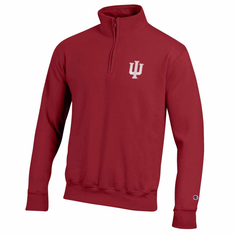 NCAA Mens Heather Double Knit Mesh Quarter Zip Jacket