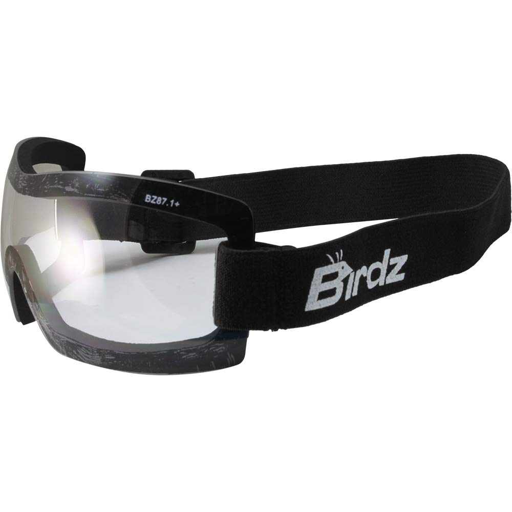 The Buzzard Motorcycle Goggle Fits Over Glasses Clear Lens Birdz Eyewear