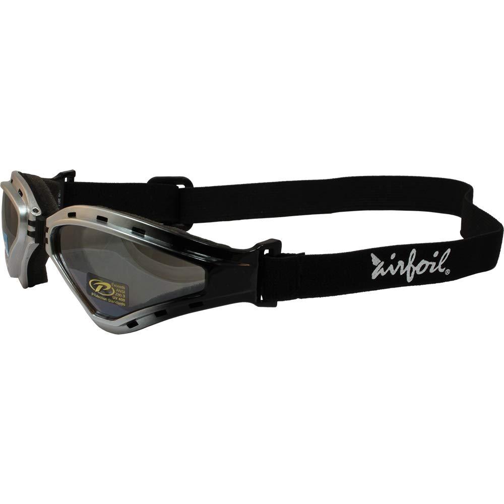 Birdz Pelican Black Padded ATV Motorcycle OTG Goggles with Yellow Lens