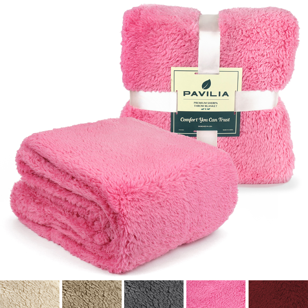 Soft-Fuzzy-Warm-Cozy-Throw-Blanket-with-Fluffy-Sherpa-Fleece-for-Sofa-Couch-Bed thumbnail 61