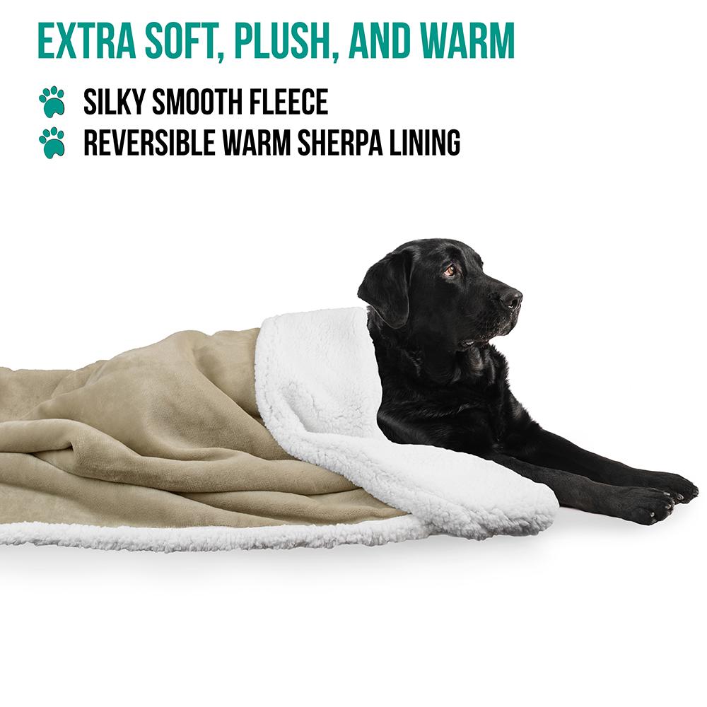 thumbnail 75 - Dog Blanket for Medium Large Dogs Pet Soft Fleece Durable Warm Sherpa Reversible