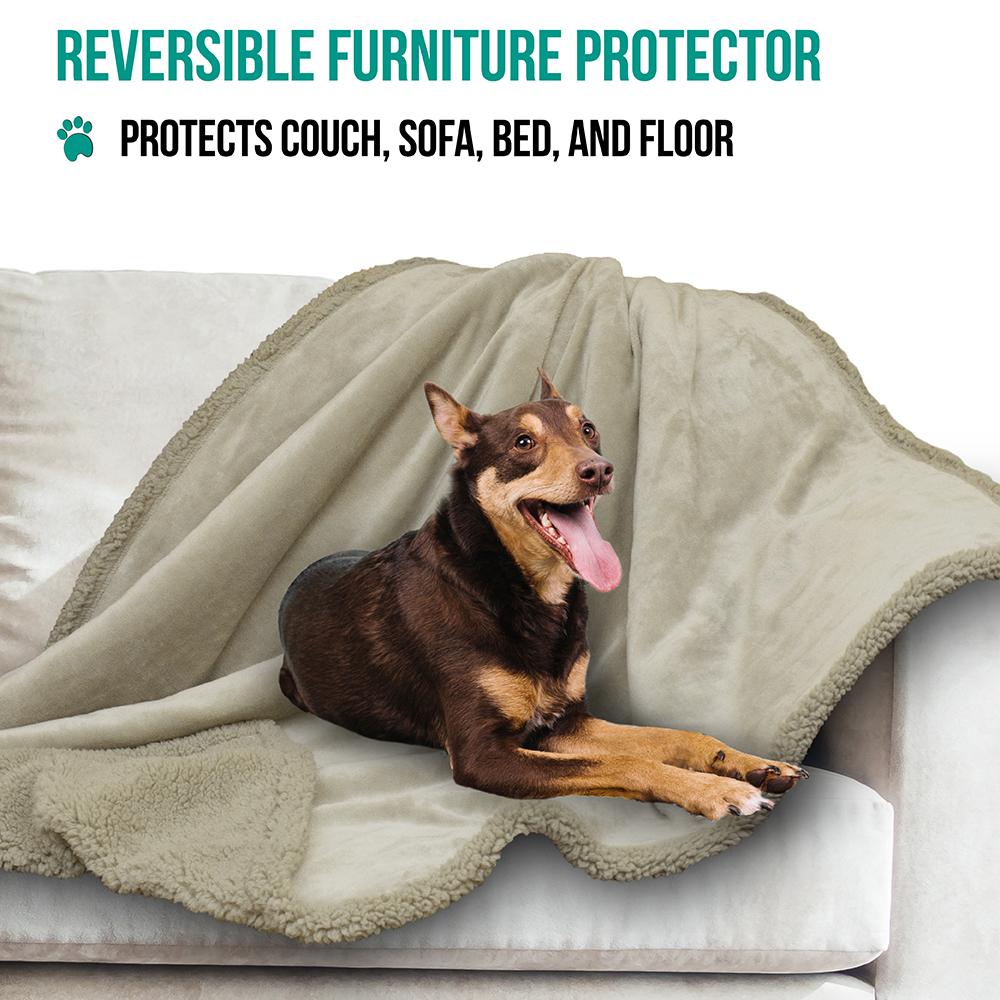 thumbnail 83 - Dog Blanket for Medium Large Dogs Pet Soft Fleece Durable Warm Sherpa Reversible