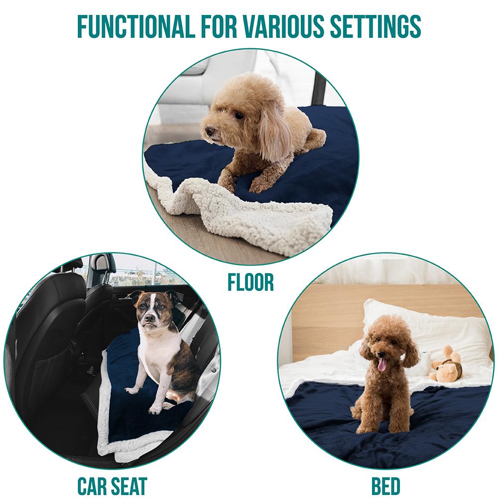 thumbnail 12 - Dog Blanket for Medium Large Dogs Pet Soft Fleece Durable Warm Sherpa Reversible