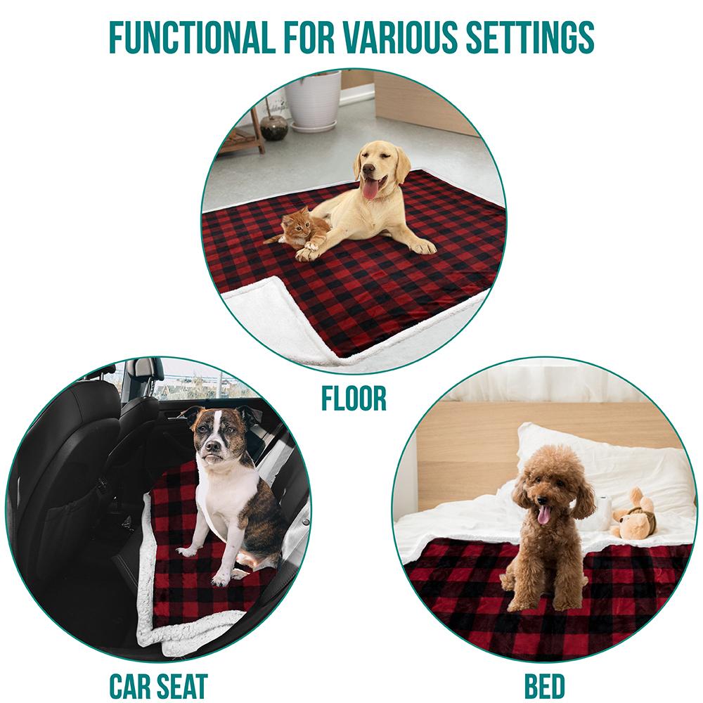 thumbnail 33 - Dog Blanket for Medium Large Dogs Pet Soft Fleece Durable Warm Sherpa Reversible