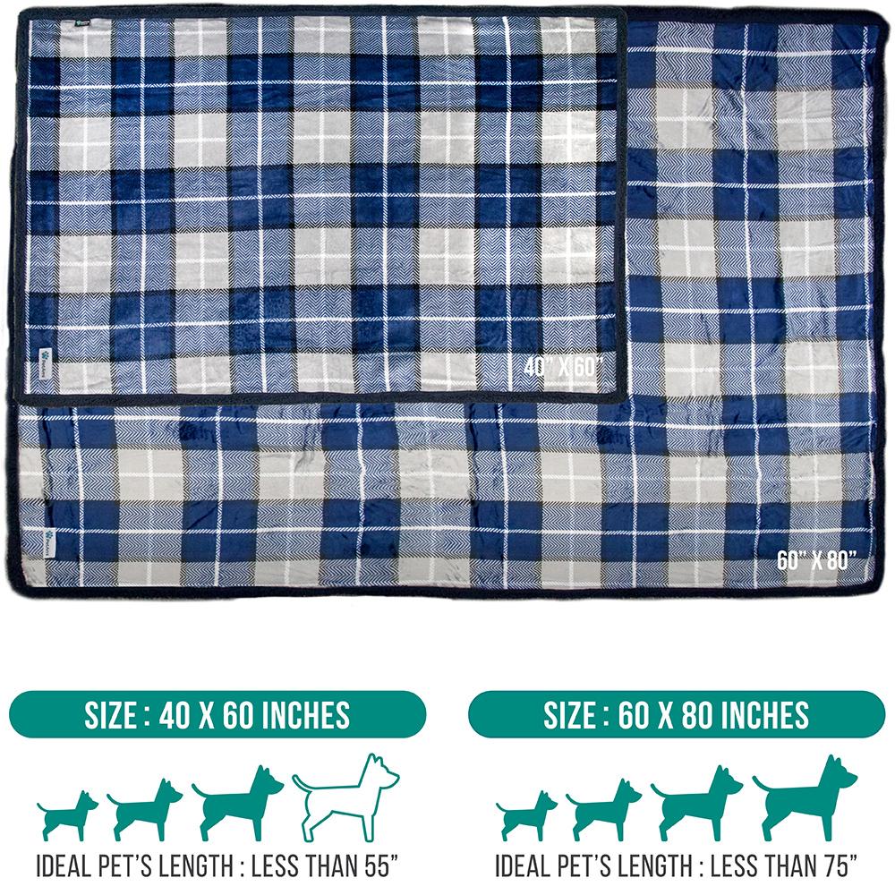 thumbnail 61 - Dog Blanket for Medium Large Dogs Pet Soft Fleece Durable Warm Sherpa Reversible