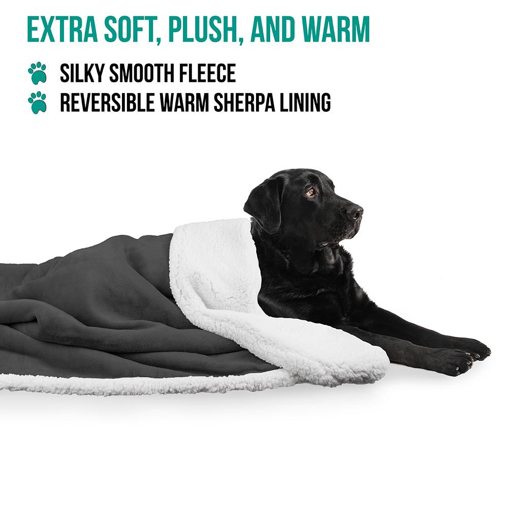 thumbnail 24 - Dog Blanket for Medium Large Dogs Pet Soft Fleece Durable Warm Sherpa Reversible
