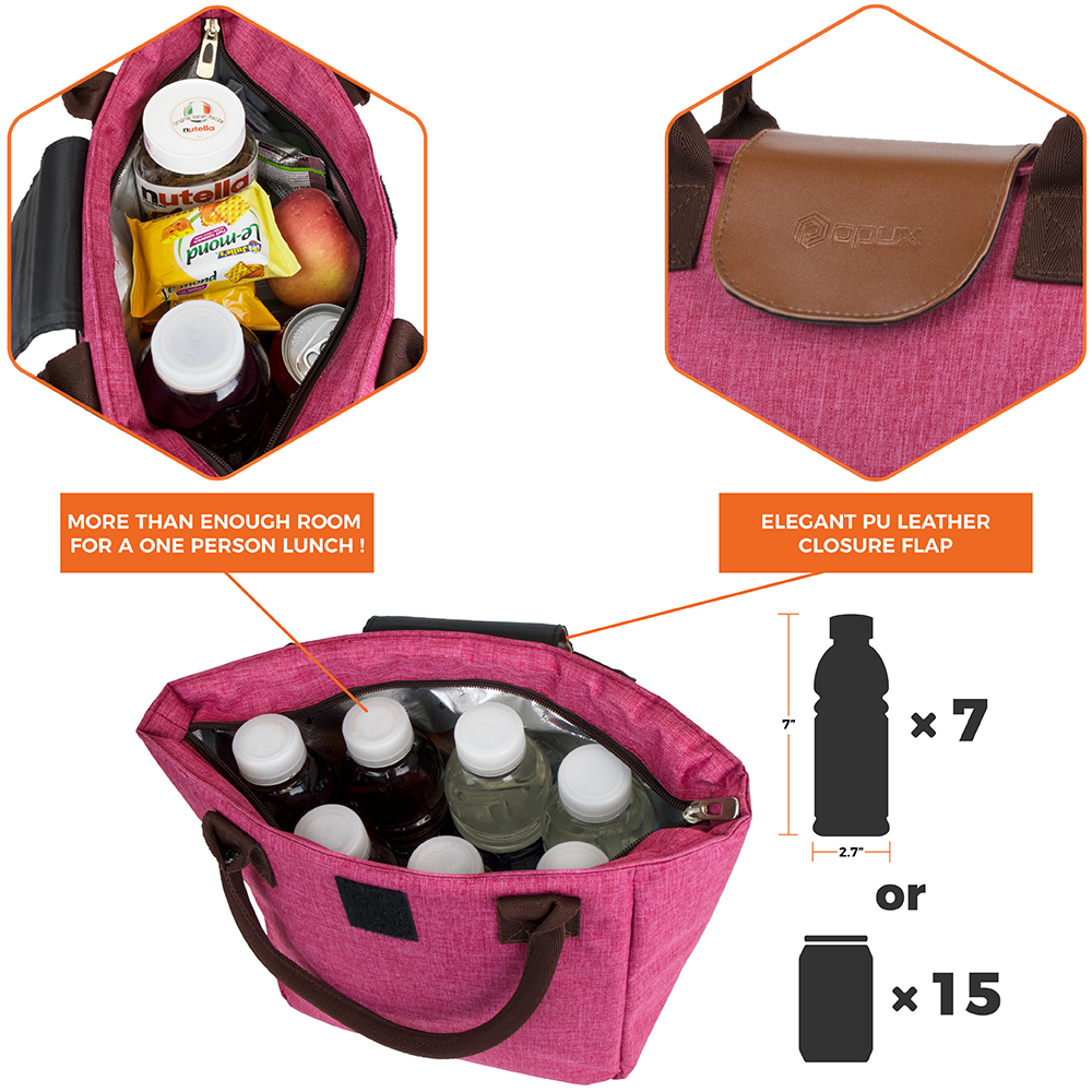 miniature 27 - Lunch Bag for Women Thermal Insulated Lunch Food Tote Purse Work Office Picnic