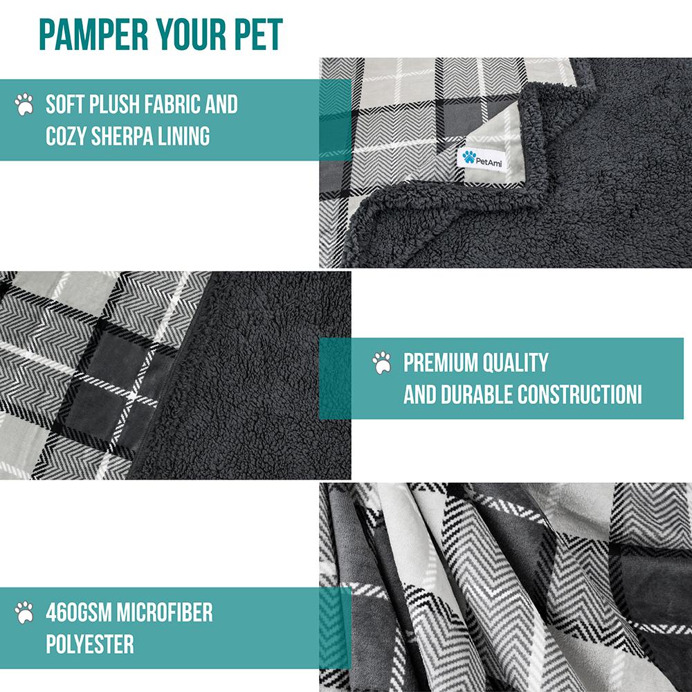 thumbnail 48 - Dog Blanket for Medium Large Dogs Pet Soft Fleece Durable Warm Sherpa Reversible