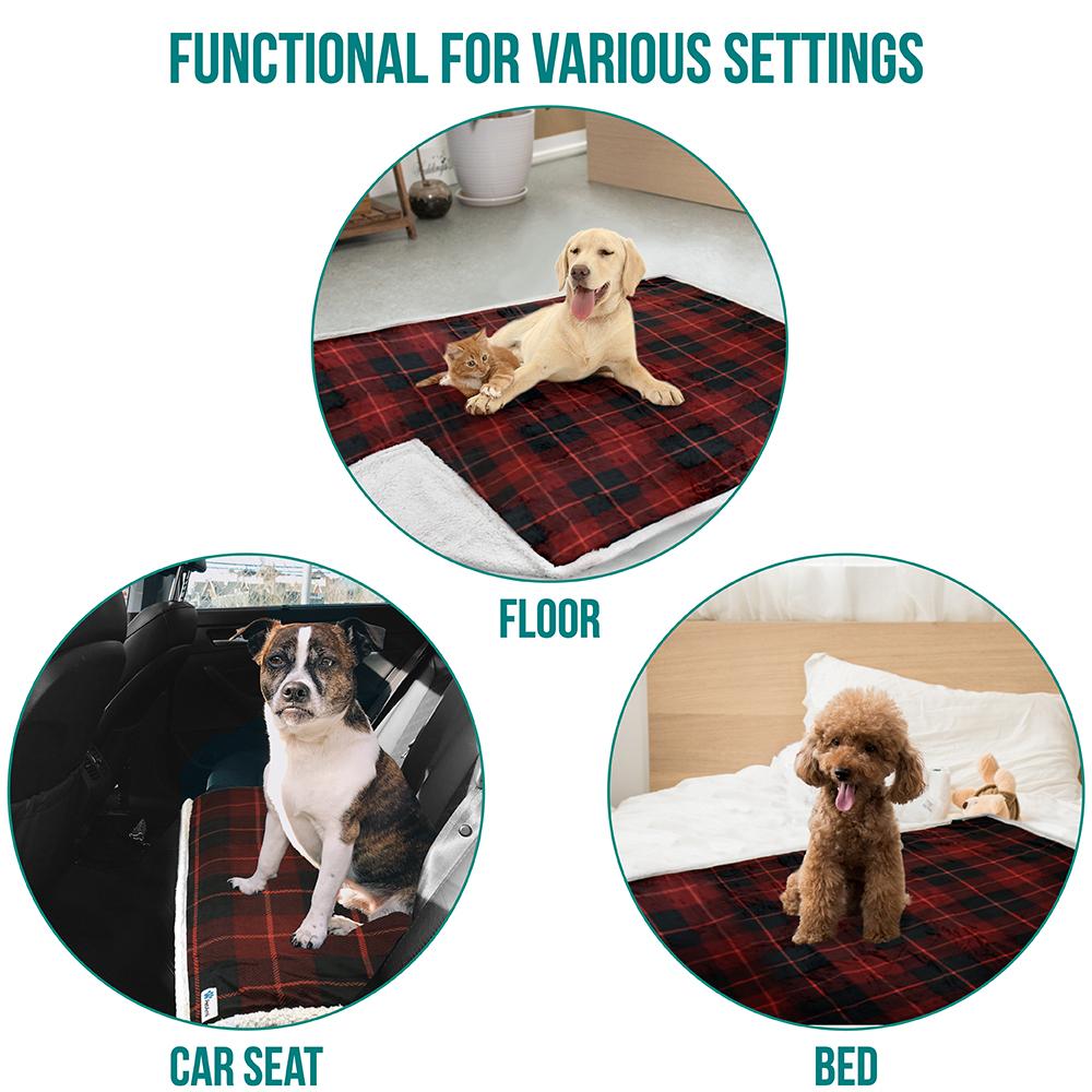 thumbnail 65 - Dog Blanket for Medium Large Dogs Pet Soft Fleece Durable Warm Sherpa Reversible