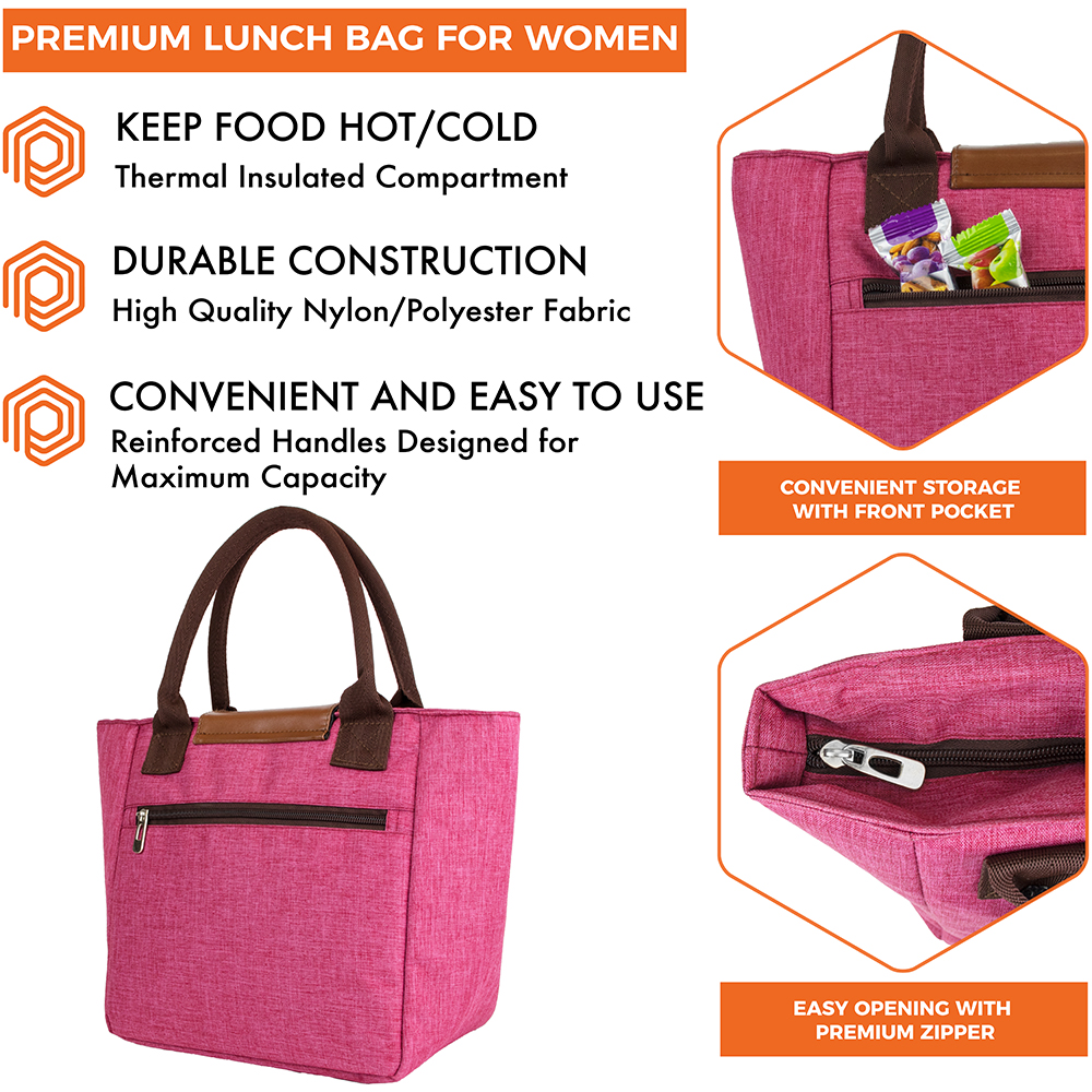 miniature 25 - Lunch Bag for Women Thermal Insulated Lunch Food Tote Purse Work Office Picnic