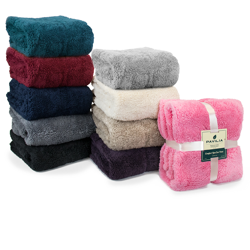 Soft-Fuzzy-Warm-Cozy-Throw-Blanket-with-Fluffy-Sherpa-Fleece-for-Sofa-Couch-Bed thumbnail 54