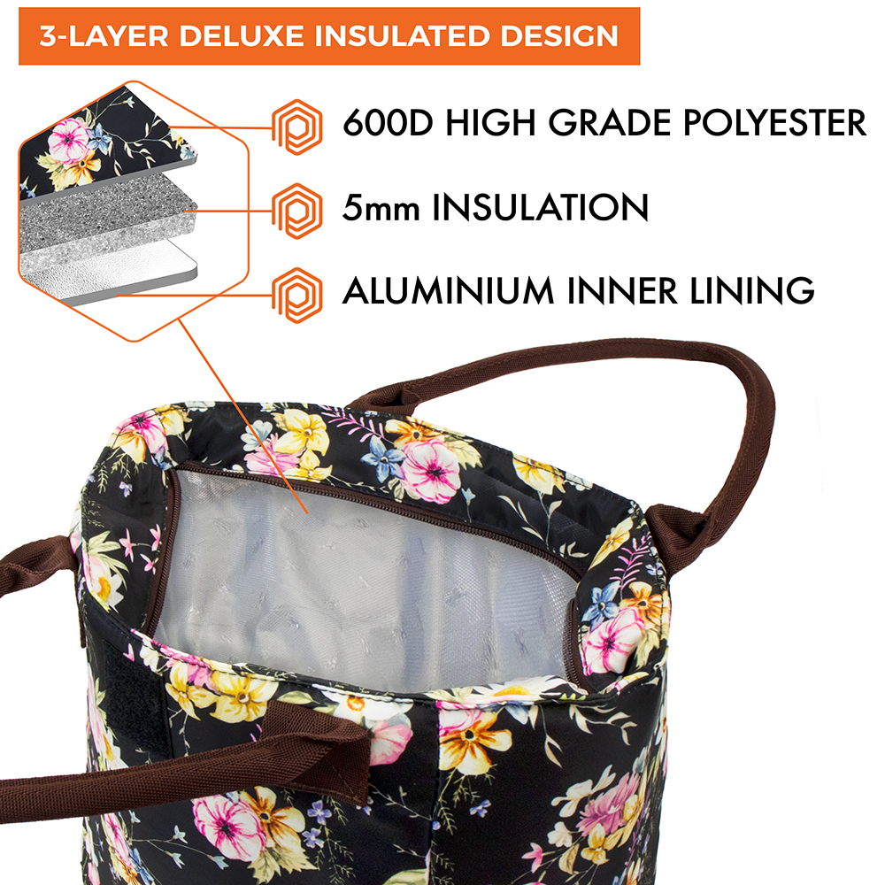 miniature 33 - Lunch Bag for Women Thermal Insulated Lunch Food Tote Purse Work Office Picnic