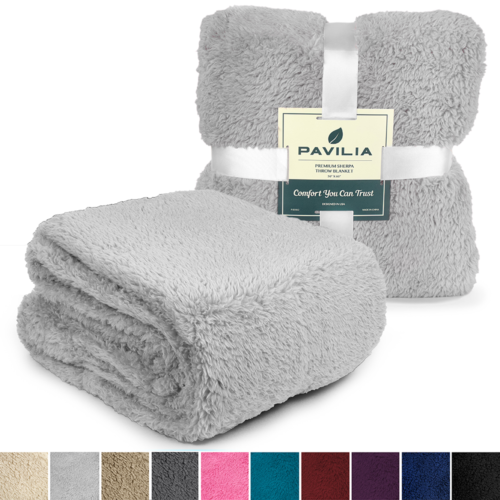 Soft-Fuzzy-Warm-Cozy-Throw-Blanket-with-Fluffy-Sherpa-Fleece-for-Sofa-Couch-Bed thumbnail 46