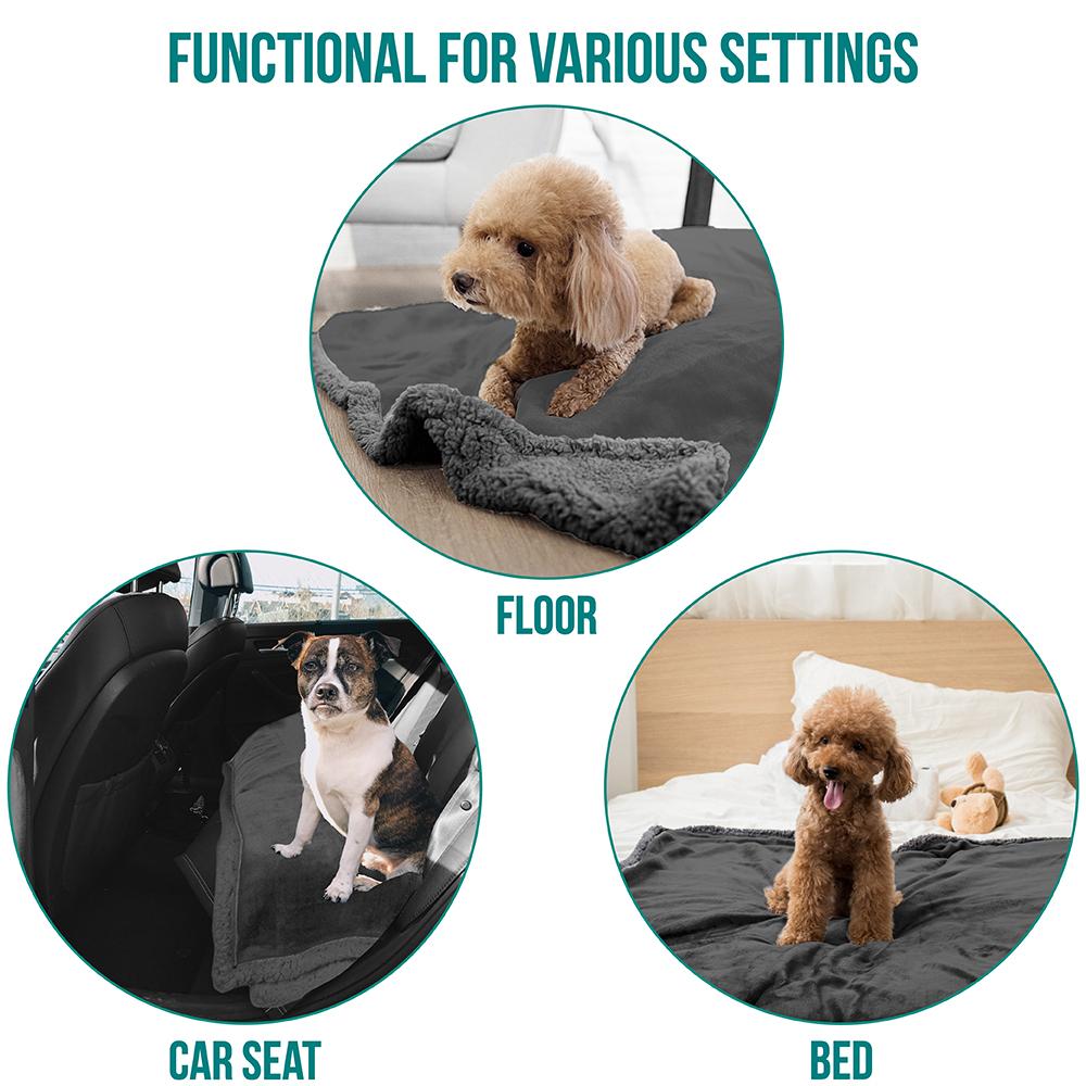 thumbnail 40 - Dog Blanket for Medium Large Dogs Pet Soft Fleece Durable Warm Sherpa Reversible