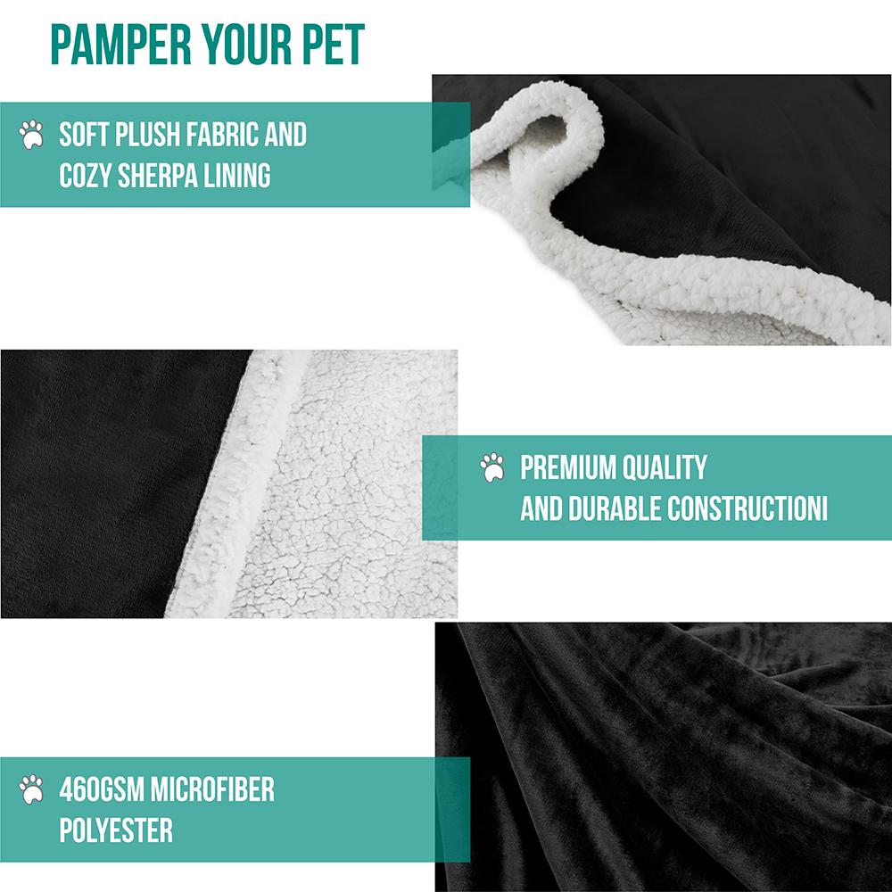 thumbnail 6 - Dog Blanket for Medium Large Dogs Pet Soft Fleece Durable Warm Sherpa Reversible