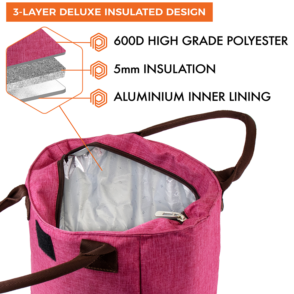 miniature 26 - Lunch Bag for Women Thermal Insulated Lunch Food Tote Purse Work Office Picnic