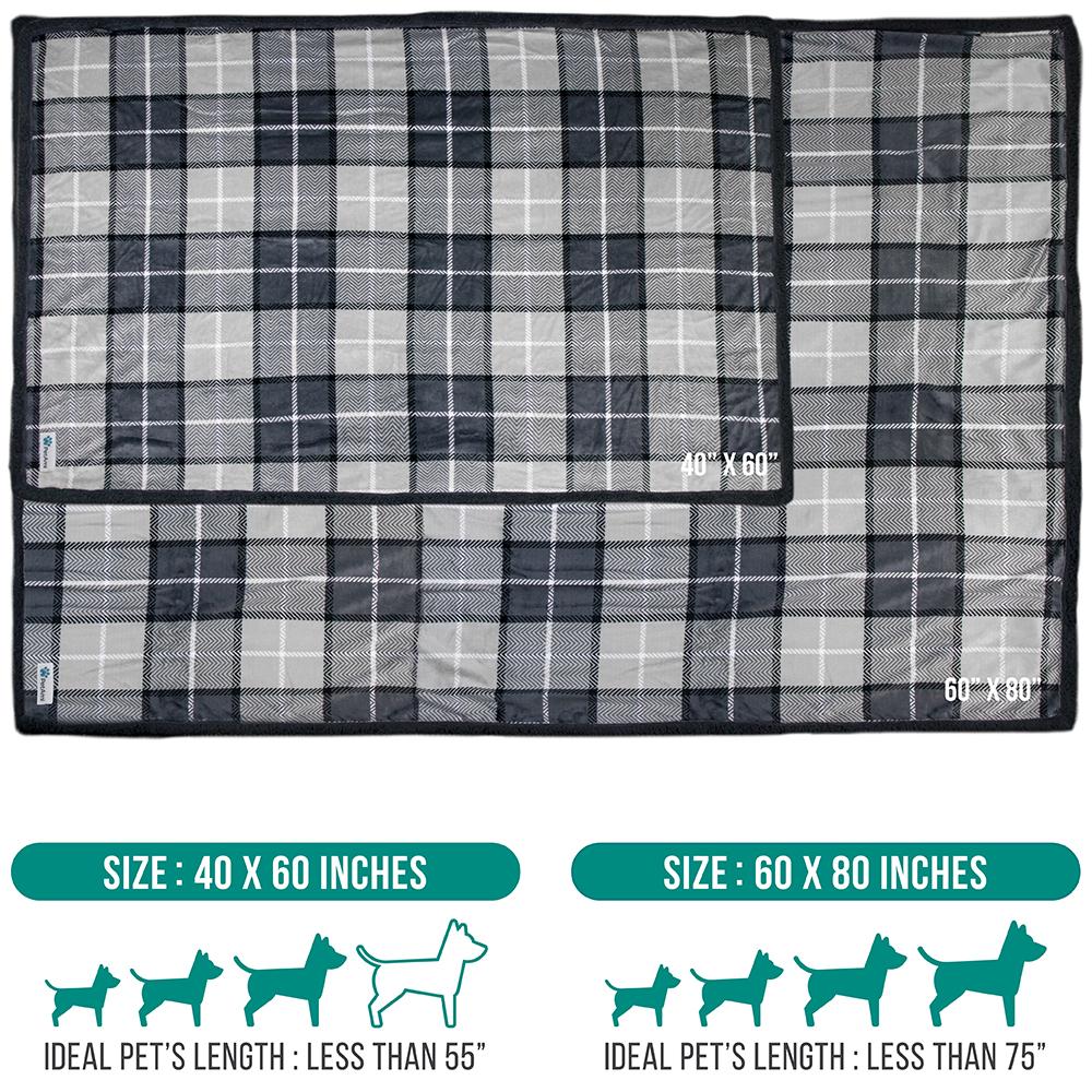 thumbnail 49 - Dog Blanket for Medium Large Dogs Pet Soft Fleece Durable Warm Sherpa Reversible