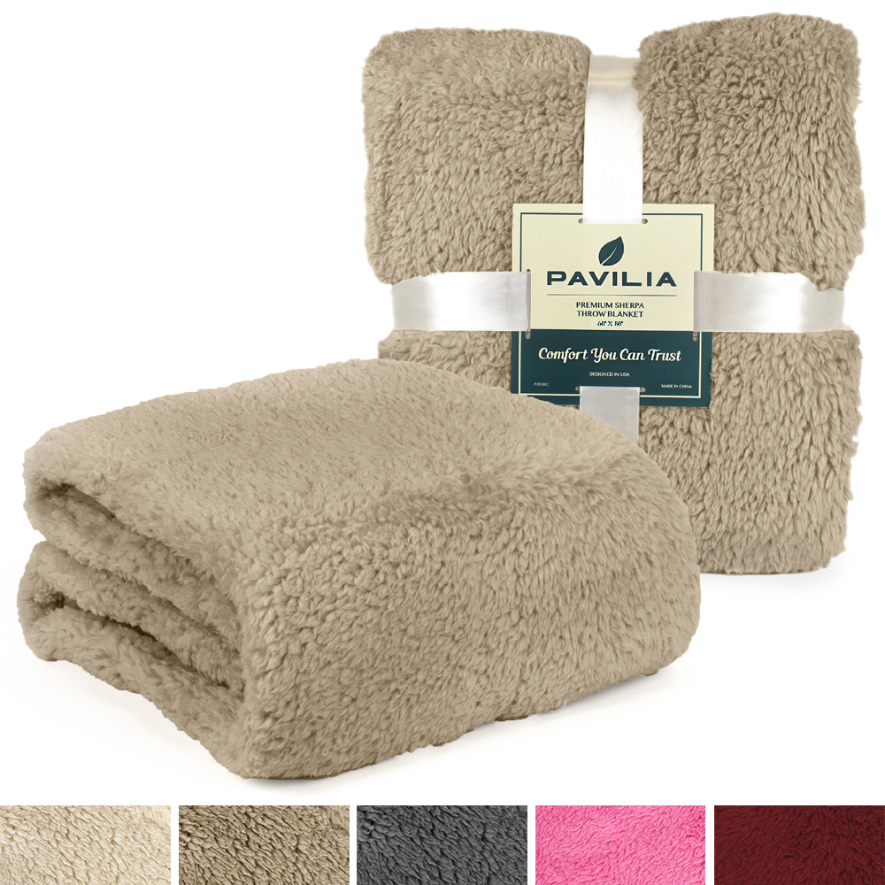 Soft-Fuzzy-Warm-Cozy-Throw-Blanket-with-Fluffy-Sherpa-Fleece-for-Sofa-Couch-Bed thumbnail 86