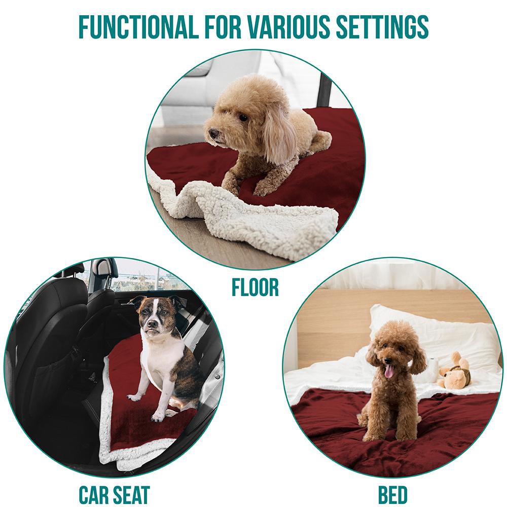 thumbnail 91 - Dog Blanket for Medium Large Dogs Pet Soft Fleece Durable Warm Sherpa Reversible