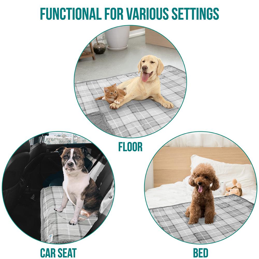 thumbnail 53 - Dog Blanket for Medium Large Dogs Pet Soft Fleece Durable Warm Sherpa Reversible