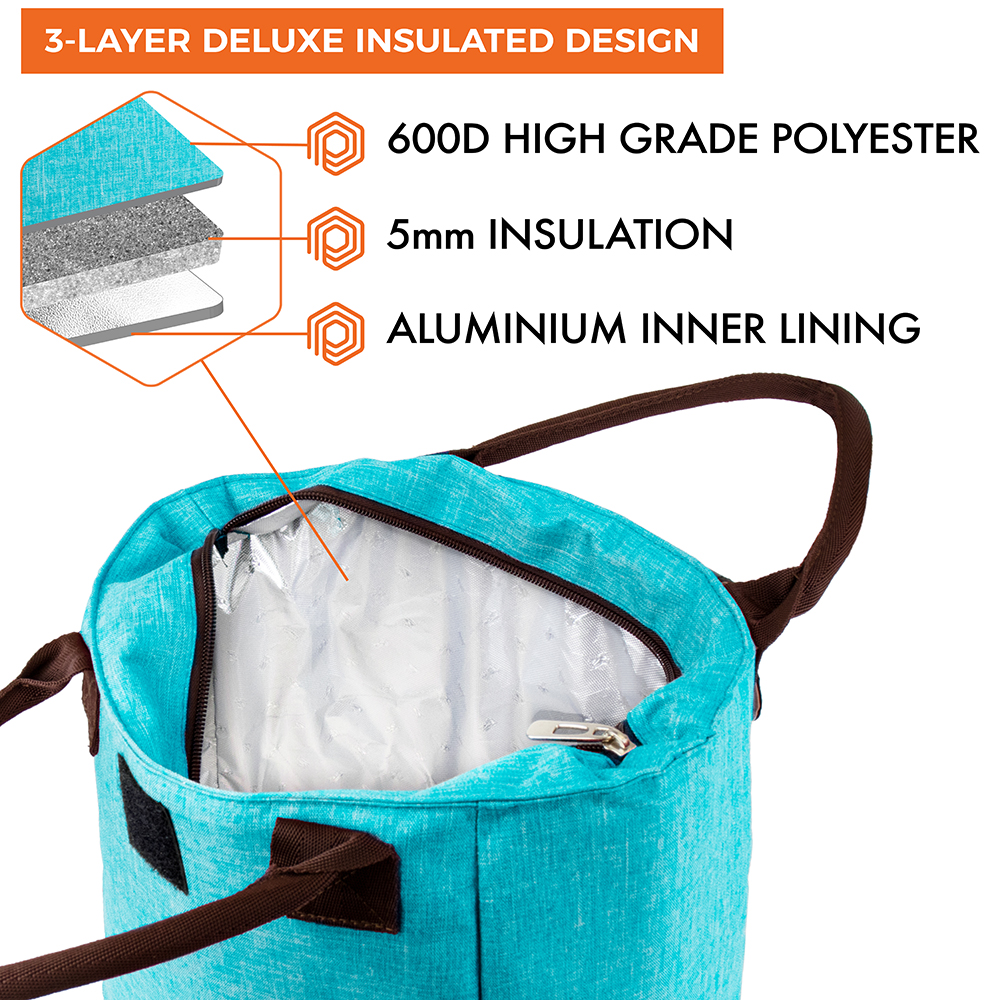 miniature 54 - Lunch Bag for Women Thermal Insulated Lunch Food Tote Purse Work Office Picnic