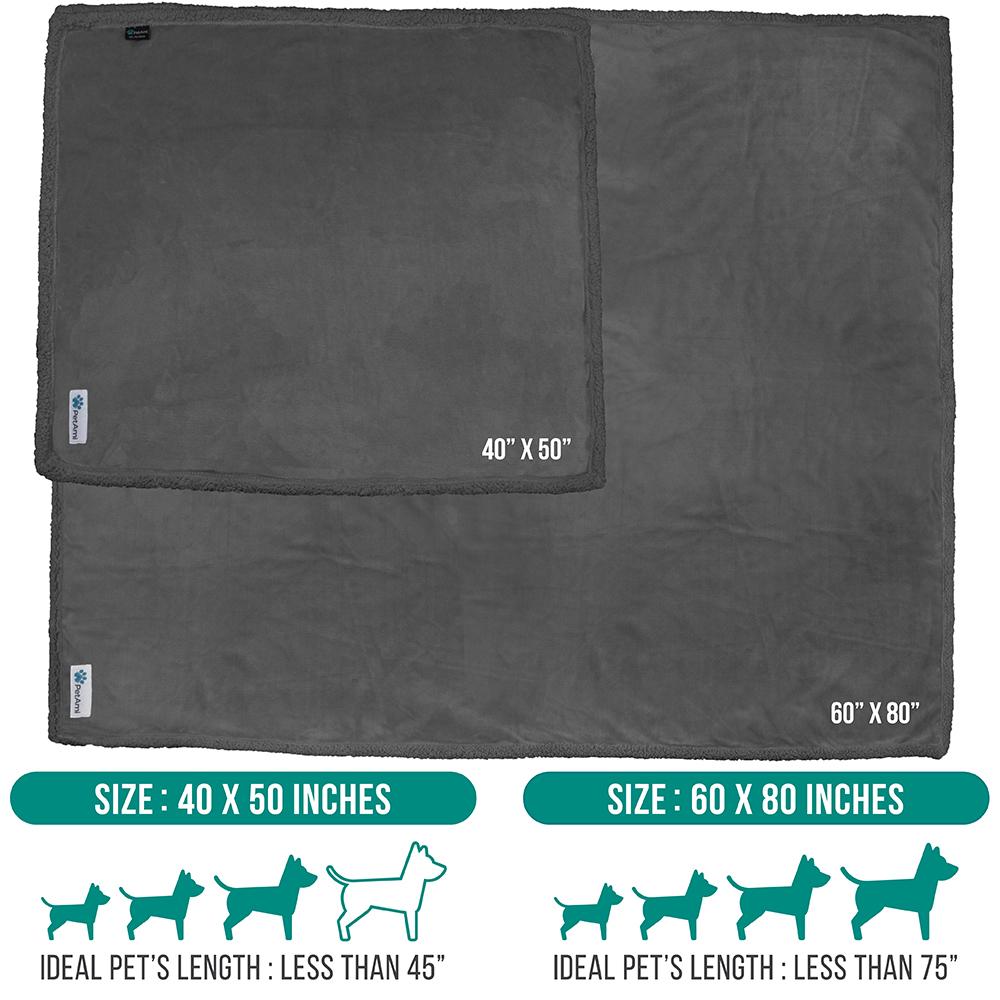 thumbnail 42 - Dog Blanket for Medium Large Dogs Pet Soft Fleece Durable Warm Sherpa Reversible