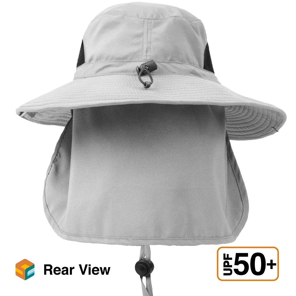 Outdoor Hiking Fishing Hat Summer Sun Protection Wide Brim Boonie Shade 50 UPF