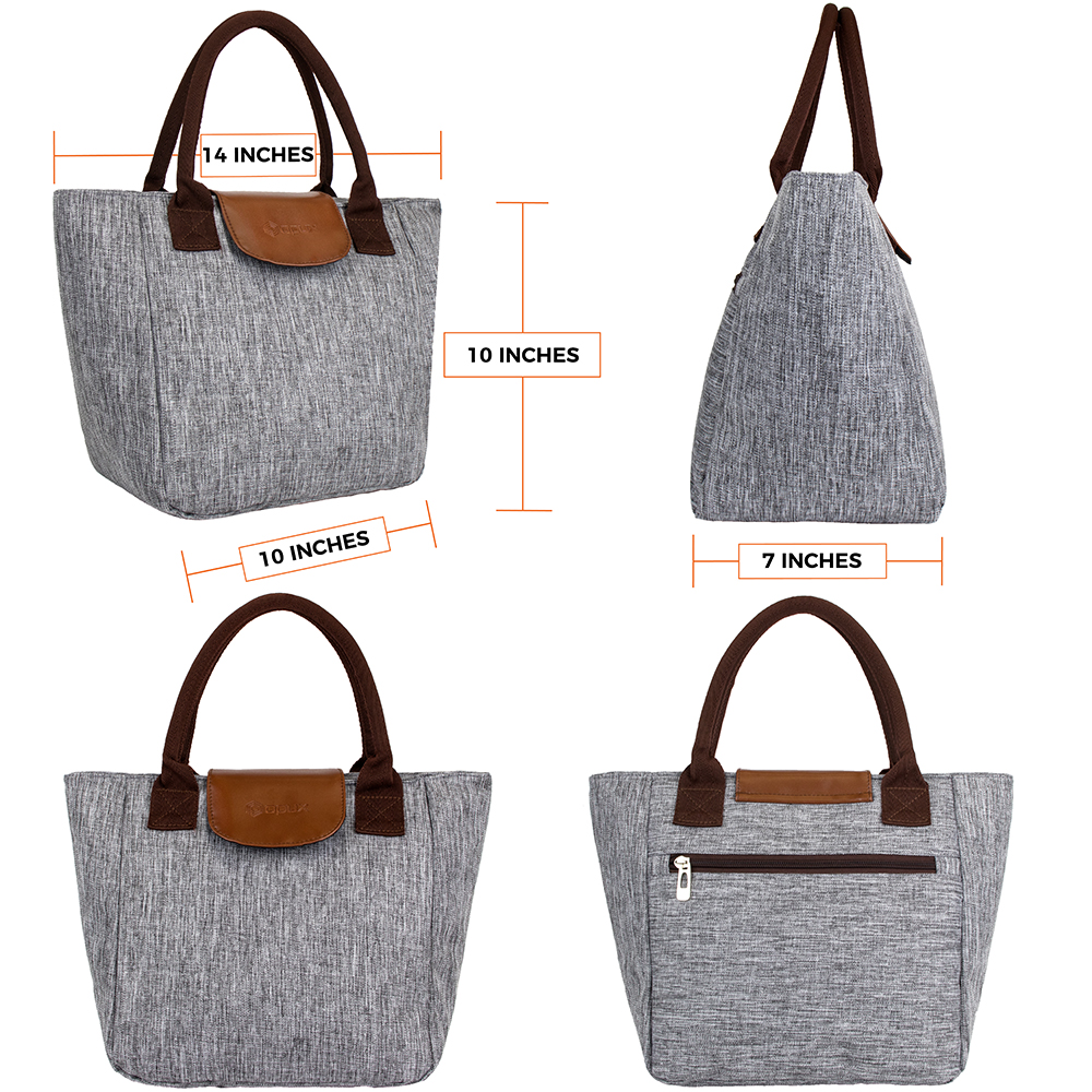 miniature 17 - Lunch Bag for Women Thermal Insulated Lunch Food Tote Purse Work Office Picnic
