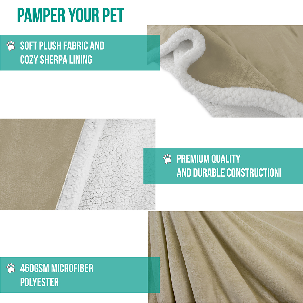 thumbnail 78 - Dog Blanket for Medium Large Dogs Pet Soft Fleece Durable Warm Sherpa Reversible